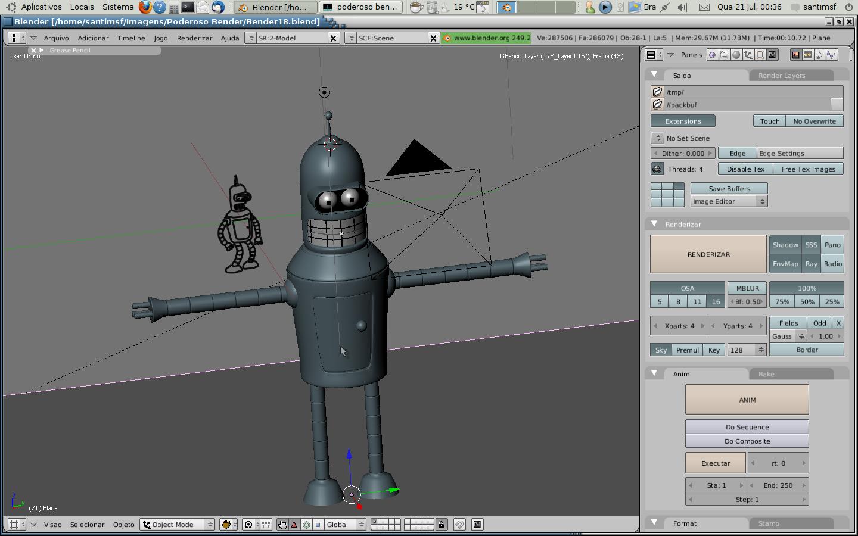 Bender no tikoa 3d model making software